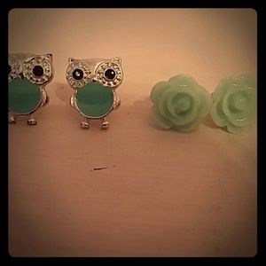 Owl/Flower Earrings